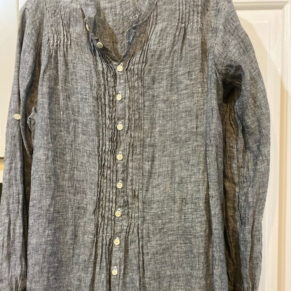CP Shades Dresses & Skirts - CP Shades linen dress gray, perfect condition W Sm